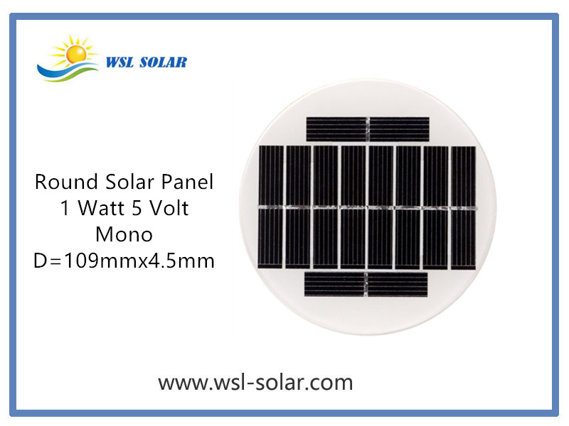 Introduction of WSL Solar's Round Solar Panel 5V 1W